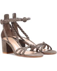 Gianvito Rossi - Liya Suede Sandals - Lyst