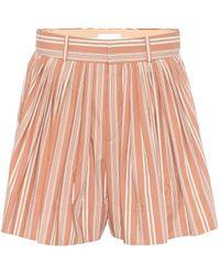 Chloé - Gestreifte Shorts aus Baumwolle - Lyst