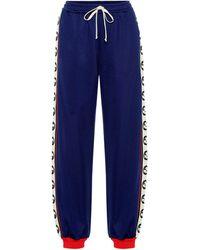 Gucci Jogginghose mit Baumwollanteil - Blau