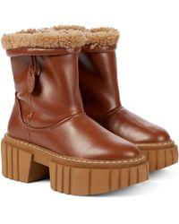 Stella McCartney Emilie Platform Ankle Boots - Brown
