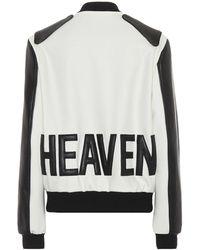 Saint Laurent Leather-trimmed Wool Jacket - Black