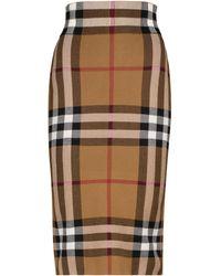 Burberry Gonna in maglia Vintage Check - Marrone