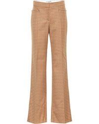 Stella McCartney Pantalon évasé Claudia à taille mi-haute - Multicolore