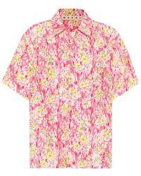 Marni Camicia a stampa floreale in seta - Rosa