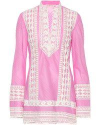 Tory Burch Rachel Cotton Tunic - Pink
