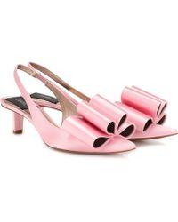 Marc Jacobs Satin Slingback Pumps - Pink