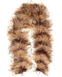 Miu Miu Feather, Mohair And Wool-blend Scarf - Natural