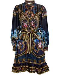 Camilla Embellished Printed Silk Minidress - Multicolour