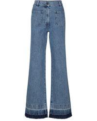 JW Anderson High-Rise Bootcut Jeans - Blau