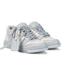 Off-White c/o Virgil Abloh Sneakers Out Of Office aus Leder - Grau