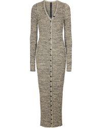 Petar Petrov Erica Ribbed-knit Silk Maxi Dress - Grey
