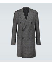 Lanvin Abrigo de lana de botonadura doble - Multicolor