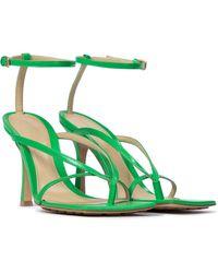 Bottega Veneta Stretch Leather Sandals - Green