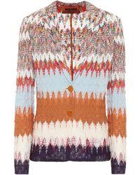 Missoni Chevron-knit Cardigan - Multicolour