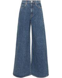 SLVRLAKE Denim X ELLERY jeans anchos Twin Range de tiro alto - Azul