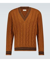 Dries Van Noten Pullover aus Wolle - Braun