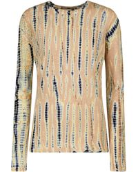 Proenza Schouler Tie-dye Cotton Jersey Top - Natural