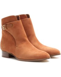 Loro Piana - Wallis Suede Ankle Boots - Lyst