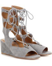 Chloé Foster Suede Gladiator Wedge Sandals - Multicolor