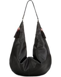 The Row Sling 15 Leather Shoulder Bag - Black