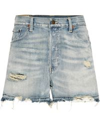 Polo Ralph Lauren - Distressed Denim Shorts - Lyst