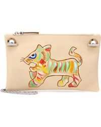 The Row - Party Time Printed Leather Pouch - Lyst