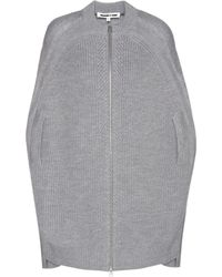 McQ Knitted Wool Cape - Gray