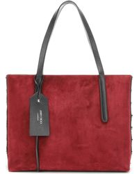 Jimmy Choo - Twist East West Leather And Suede Tote - Lyst