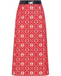 Teatum Jones - Florence Embroidered Merino Wool Skirt - Lyst
