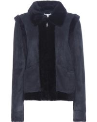 Ganni - Scott Suede And Shearling Jacket - Lyst