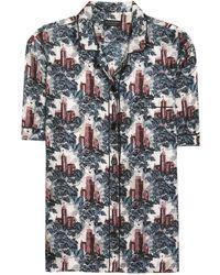 Burberry Mulberry Silk Pajama Shirt - Multicolor