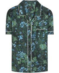Burberry Printed Pajama Shirt - Green