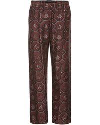 Burberry Printed Pajama Pants - Brown