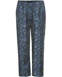 Burberry Printed Pajama Pants - Blue