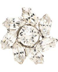 Jimmy Choo Fleur Crystal Shoe Button - White
