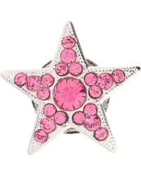 Jimmy Choo Small Starry Crystal-embellished Shoe Button - Pink