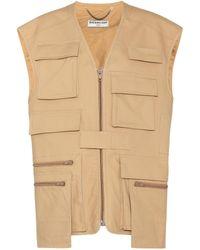 Balenciaga Cotton Vest - Natural