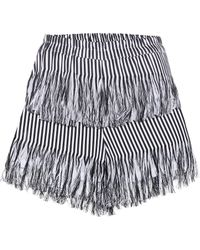 Prism Fringed Cotton Shorts