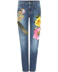 Dolce & Gabbana Embellished Jeans - Blue