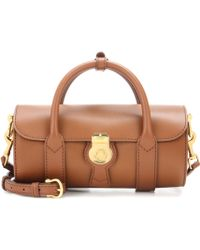 Burberry The Small Trench Leather Barrel Bag - Brown