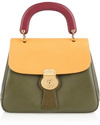 Burberry - The Trench Leather Top Handle Bag - Lyst