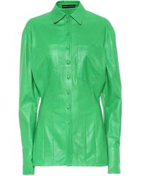 Kwaidan Editions Bluse aus Leder - Grün