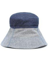 Lola Hats Cappello Cuffed in denim - Blu