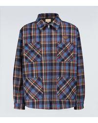 Gucci Karierte Hemdjacke aus Wolle - Blau