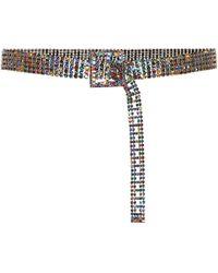 Veronica Beard Orion Crystal-embellished Belt - Multicolor