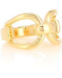 Sophie Buhai Anillo Horsebit de oro vermeil de 18 ct - Metálico