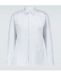 Comme des Garçons Gestreiftes Hemd aus Baumwolle - Weiß