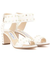 Jimmy Choo | Veto 65 Embellished Leather Sandals | Lyst
