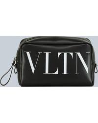 Valentino Garavani Vltn Wash Bag - Black