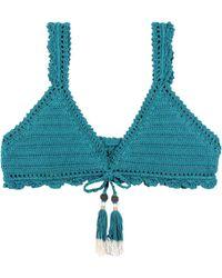 She Made Me - Amira Crochet Bikini Top - Lyst
